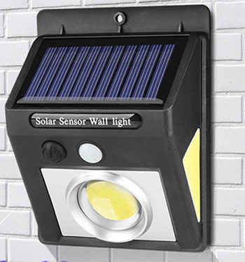 Cob Solar Motion Sensor Wall Light 1