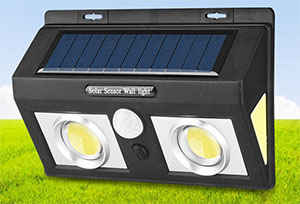Cob Solar Motion Sensor Wall Light 2