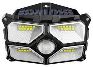 Grille Solar Motion Sensor Wall Light