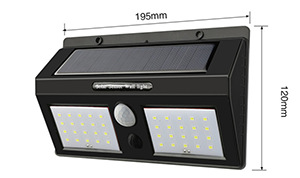 Smd Solar Wall Light With Double Heads