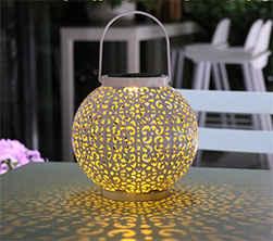Solar Wrought Iron Hollow Light Sp S Decoration 10