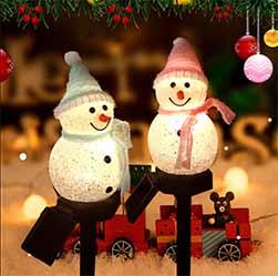 Christmas Snowman Solar Light