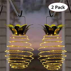 Solar Pineapple String Lights