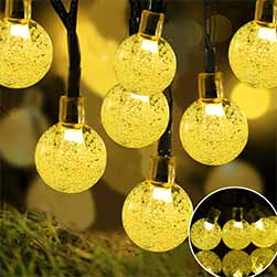 Solar String Crystal Globe Lights