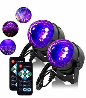 Uv Black Lights 6w Led Disco Ball Party Lights