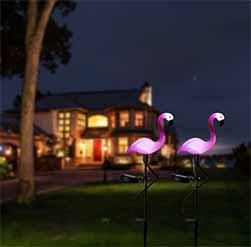 Solar Flamingo Path Light