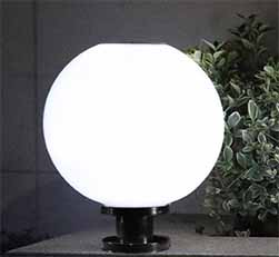 Classic Spherical Solar Post Lights