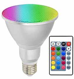 Dimmable Color Changing Spotlight 28w E26, Par30 Led Light Bulb