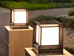 Modern Minimalist Solar Post Lights Sp Solar Mm 2