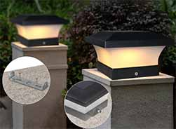 Modern Minimalist Solar Post Lights Sp Solar Mm 3