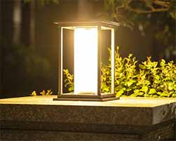 Modern Minimalist Solar Post Lights Sp Solar Mm 4